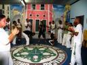 Roda de Capoeira na A. C. GUETO - Mestre Jean Pangolim e Milani nos Berimbaus